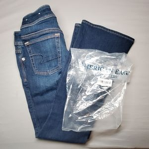 American Eagle Outfitters Kick Boot Mid Rise Jeans